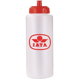 Grip Bottle with Push 'n Pull Cap with Your Slogan