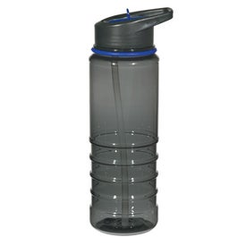 Advertising Gripper Bottle With Straw