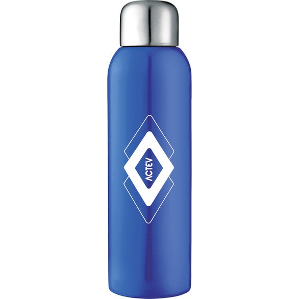 Blue Guzzle Stainless Sports Bottle