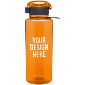 h2go Pismo Water Bottle with Your Slogan