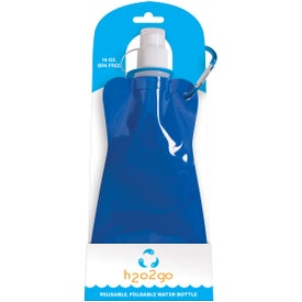 Branded H2O on the Go Reusable Collapsible Water Bottle