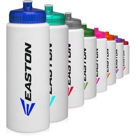 HDPE Plastic Sports Water Bottle (32 Oz.)