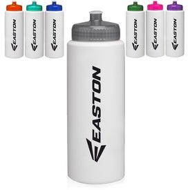 HDPE Plastic Sports Water Bottle (32 Oz.)