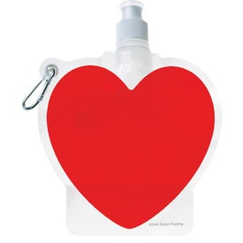 HydroPouch Heart Collapsible Water Bottle (24 Oz.)