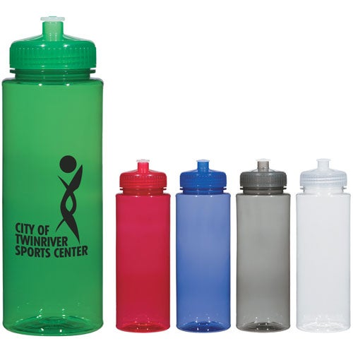 Hydroclean Sports Bottle With Push/Pull Lid