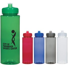 Hydroclean Sports Bottle With Push/Pull Lid (32 Oz.)