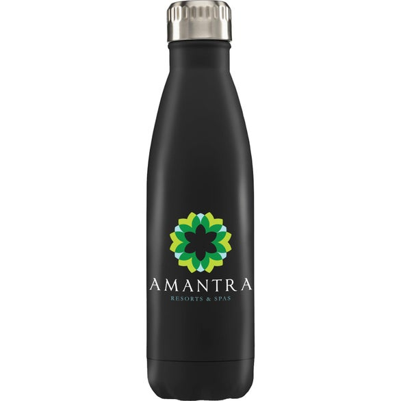 Black Ibiza Double-Wall Stainless Water Bottle