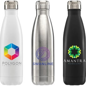 Ibiza Double-Wall Stainless Water Bottles (17 Oz.)