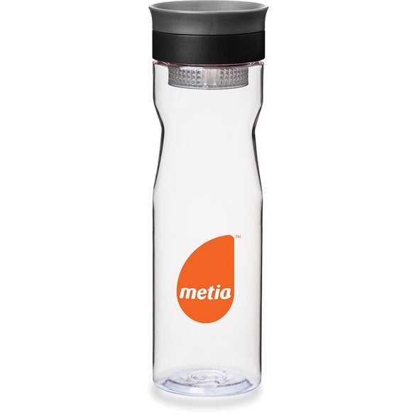 Clear / Black Infusion Water Bottle