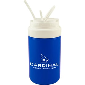 Insulated Glacier Cooler Jug with Straw (64 Oz.)