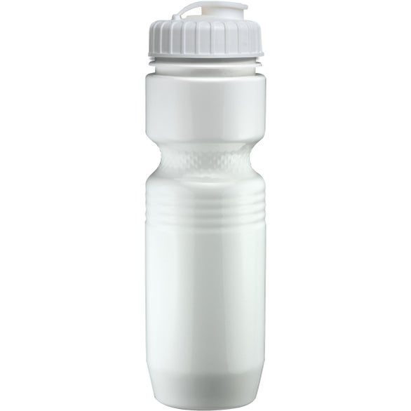 White Jogger Bottle with Flip Top Lid