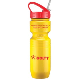 Plastic Jogger Bottle with Sport Sip Lid and Straw (26 Oz.)