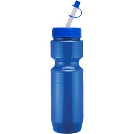 Jogger Bottle with Straw Tip Lid for Promotion