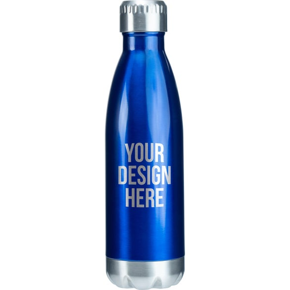 Blue / Silver Keep Vacuum Insulated Stainless Steel Bottle