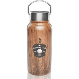 Large Wood Coated Stainless Steel Water Bottle (30 Oz.)