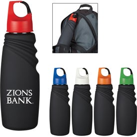 Matte Finish Crest Carabiner Sports Bottle (24 Oz.)