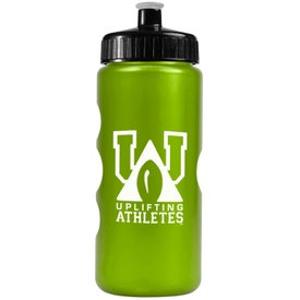 Logo Metalike Bottle with Push-Pull Lid