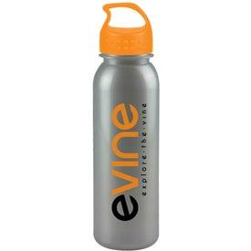 Monogrammed Metalike Bottle with Crest Lid