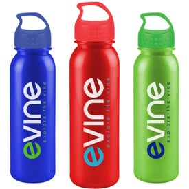 Metalike Bottle with Crest Lid (24 Oz.)