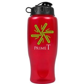 Branded Metalike Bottle with Flip Cap