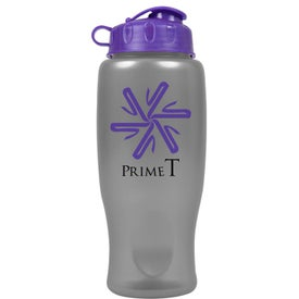 Printed Metalike Bottle with Flip Cap