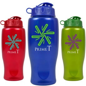 Metalike Bottle with Flip Cap (27 Oz.)