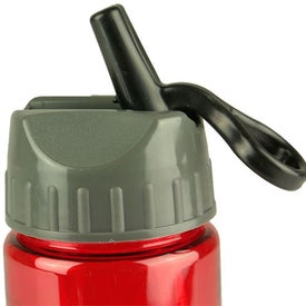 Mini Mountain Bottle with Flip Straw Lid for Advertising