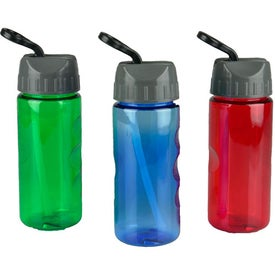 Mini Mountain Bottles with Flip Straw Lid (22 Oz.)