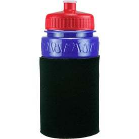 Imprinted Mini Muscle Foam Insulated Push-Pull Bottle