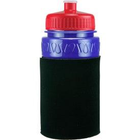 Imprinted Mini Muscle Foam Insulated Push-Pull Bottle