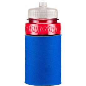 Mini Muscle Foam Insulated Push-Pull Bottle Branded with Your Logo