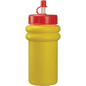 Mini Muscle Bottle with Flex Whistle Straw Lid for Promotion