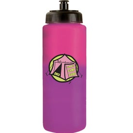 Mood Sports Bottle w/ Push/Pull Cap for Marketing