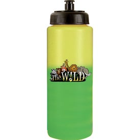 Advertising Mood Sports Bottle w/ Push/Pull Cap