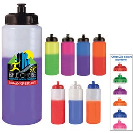 Mood Sports Bottle w/ Push/Pull Cap (32 Oz.)