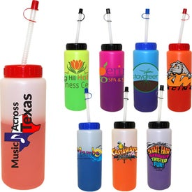Mood Sports Bottle-Flexy Straw (32 Oz., Dig. Print)