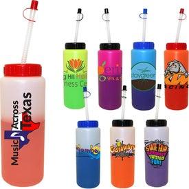 Customized Mood Sports Bottle-Flexy Straw
