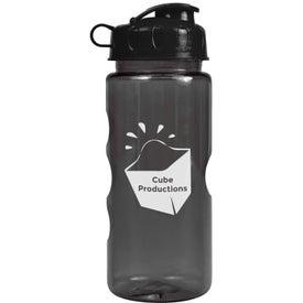 Monogrammed Mini Mountain Bottle with Flip Lid