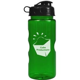 Custom Mini Mountain Bottle with Flip Lid