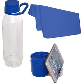 Multi-Function Water Bottle and Phone Stands with Cooling Towel (25 Oz.)