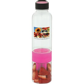 Neon Fruit Infuser BPA Free Water Bottle with Your Logo