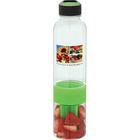 Neon Fruit Infuser BPA Free Water Bottle for Customization