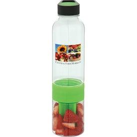 Neon Fruit Infuser BPA Free Water Bottle for Customization