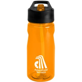 Notched Tritan Water Bottle with Loop Branded with Your Logo