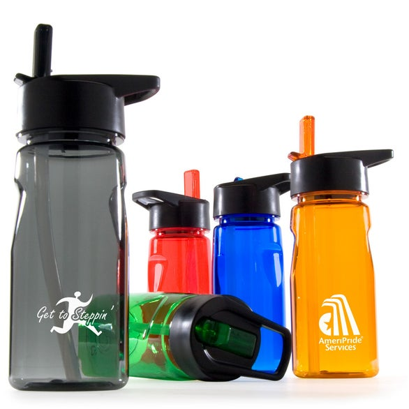 Notched Tritan Water Bottle with Loop