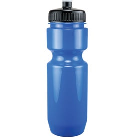 Branded Opaque Bike Bottle with Push Pull Lid