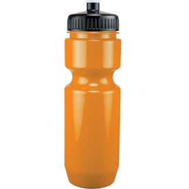 Monogrammed Opaque Bike Bottle with Push Pull Lid