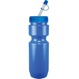 Advertising Opaque Bike Bottle with Flex Whistle Straw Lid