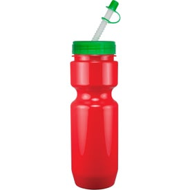 Promotional Opaque Bike Bottle with Flex Whistle Straw Lid