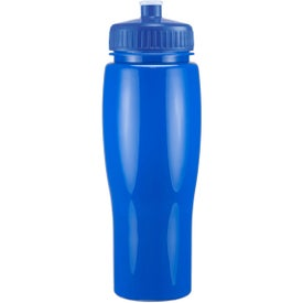 Advertising Opaque Contour Bottle with Push Pull Lid